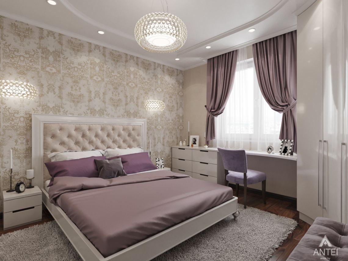 Дизайн интерьера квартиры в Гомеле, ул. Мазурова - спальня фото №3