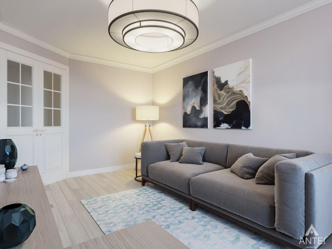 Дизайн интерьера трехкомнатной квартиры в Гомеле, ул. Свиридова - гостиная фото №3