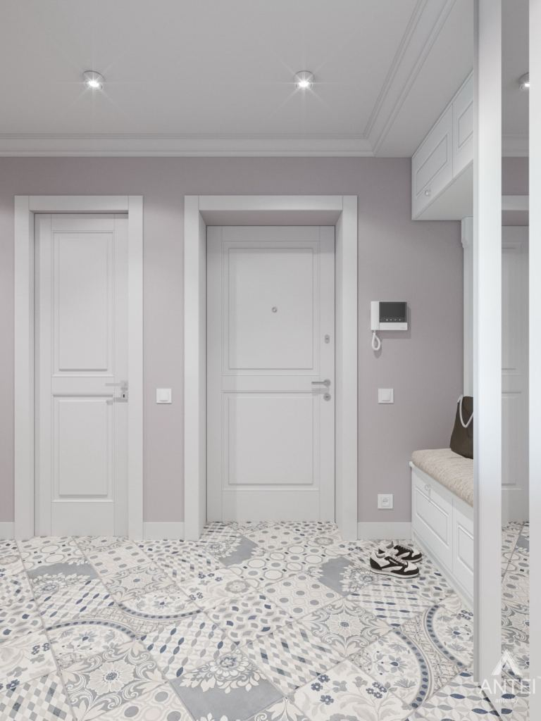 Дизайн интерьера трехкомнатной квартиры в Гомеле, ул. Свиридова - коридор фото №2