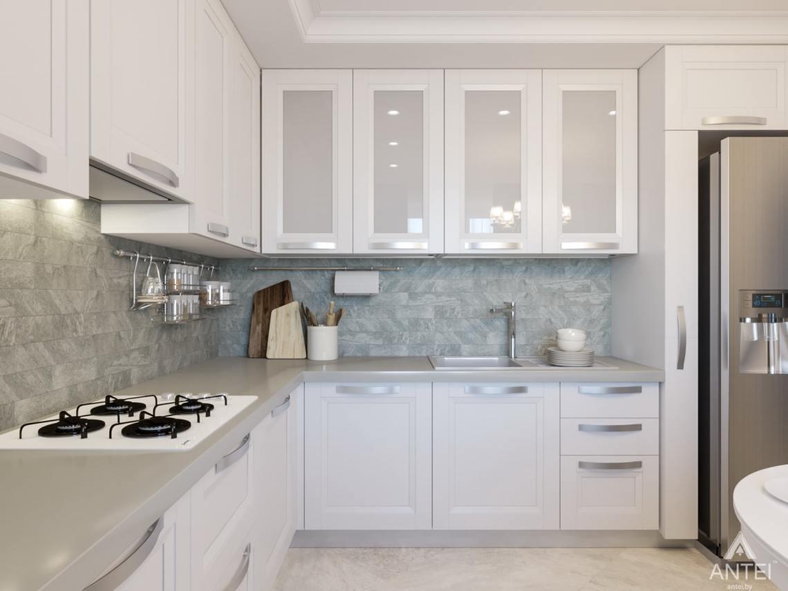 Дизайн интерьера трехкомнатной квартиры в Гомеле, ул. Свиридова - кухня фото №2