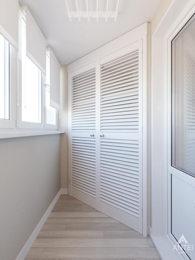 Дизайн интерьера трехкомнатной квартиры в Гомеле, ул. Свиридова - балкон фото №1