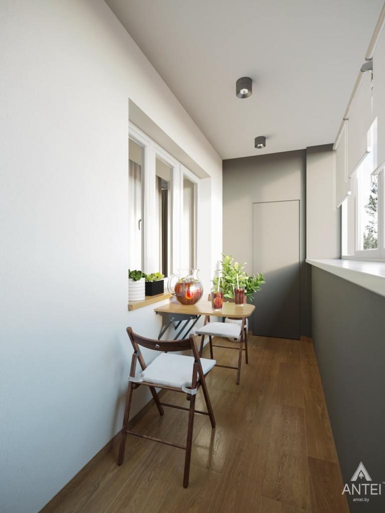 Дизайн интерьера трехкомнатной квартиры в Гомеле, ул. Карла Маркса - балкон фото №1