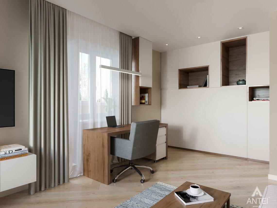 Дизайн интерьера трехкомнатной квартиры в Гомеле, ул. Карла Маркса - гостиная фото №3