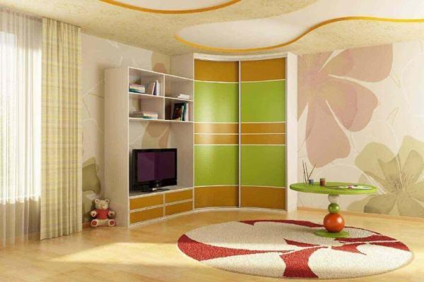 Угловой шкаф купе в детскую комнату фото – Шкафы для ...