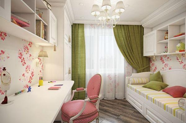 Спальня маленькая для девочки – выбор мебели, обоев ...