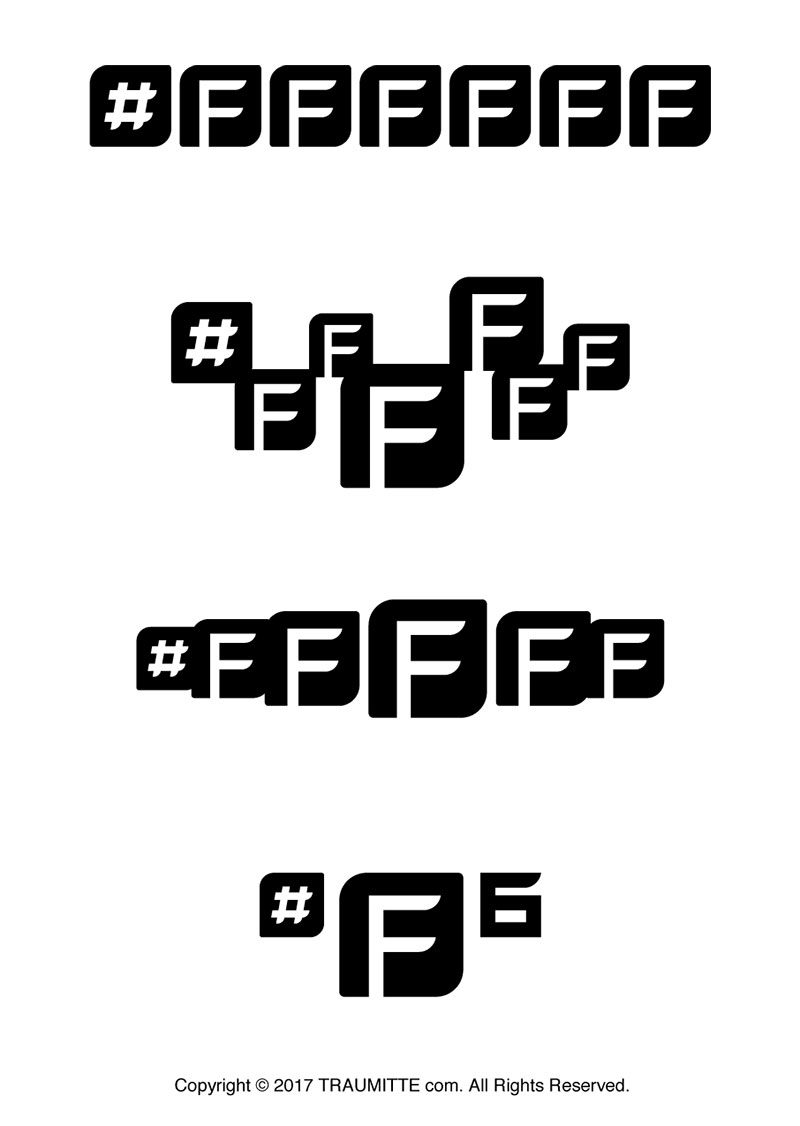 #ffffffタイトルロゴデザイン バリエーション展開