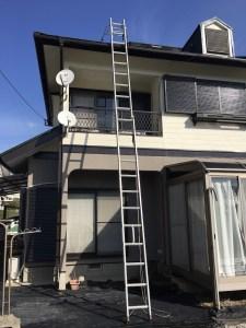 2階の屋根上アンテナ撤去工事 鞍手にて