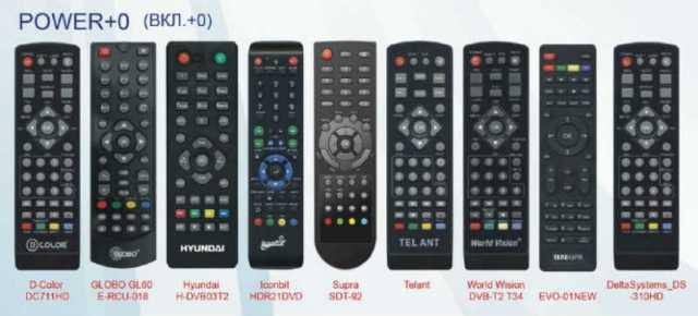 Пульт для приставок DVB T2 1
