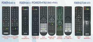 Пульт для приставок DVB T2 7