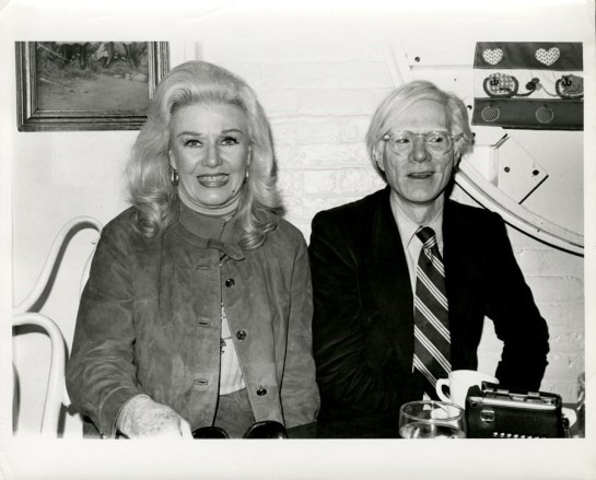 Ginger Rogers & Andy Warhol 1980