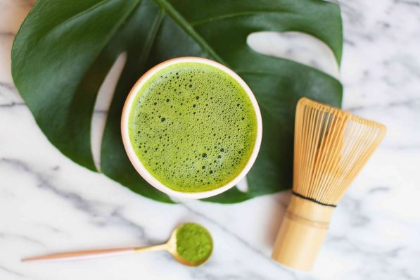 Матча чай лимон и розмарин