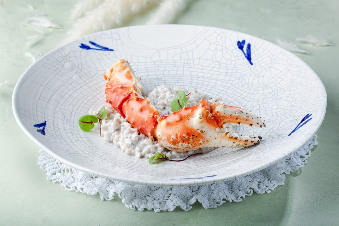 Perlotto with Kamchatka crab