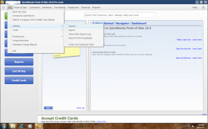 Quickbooks POS Main Menu Import