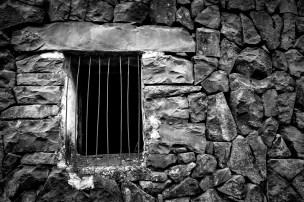Looks like a prison, it's just a window!