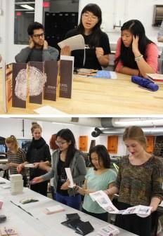 Bookarts and Nano Publishing critiques at OCAD University