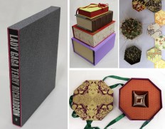 Slipcovers, cigar boxes, six-sided and eight-sided boxes in OCAD University Book Arts, 2013-2015