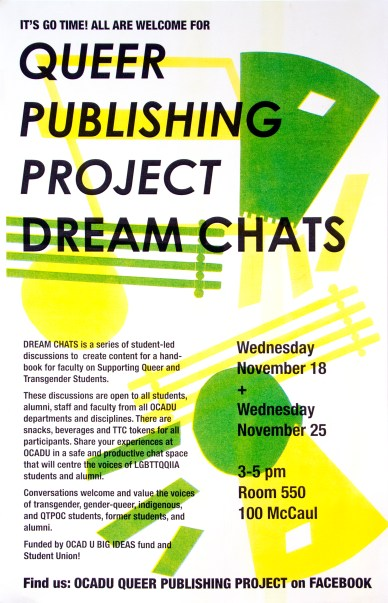 """Queer Publishing Project """"Dream Chat"""" poster"""