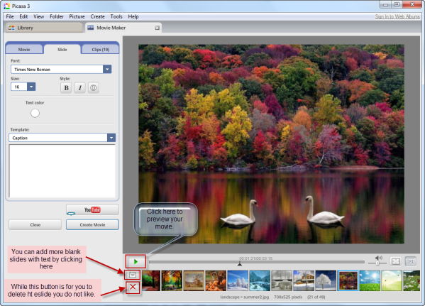 A Free and Useful Movie Maker: Picasa | Antheatian's Blog