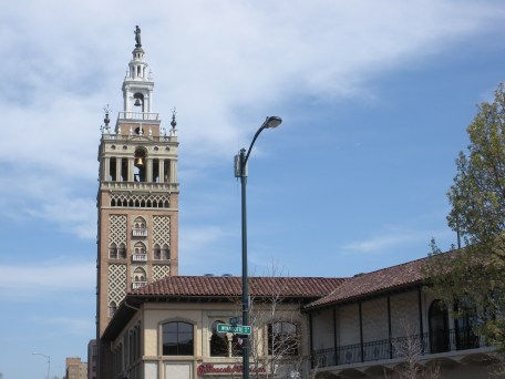 Giralda Tower The Plaza's tallest tower, with its carillon bells, is a smaller replica of the one in Seville, Spain.