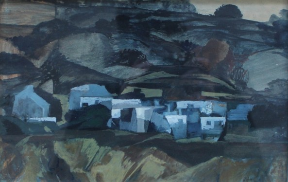 John Elwyn - Sparshot village, Winchester, Oil on board. Sold for £1,150 at Anthemion Auctions.