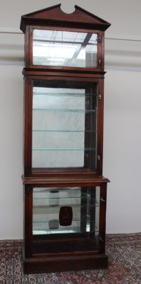 A mahogany shop display cabinet. Sold for £1,200 at Anthemion Auctions