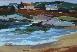 Donald McIntyre Incoming tide, Oil on paper. Sold for £5300 at Anthemion Auctions