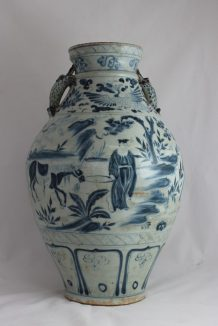 A 19th Century Chinese blue and white porcelain vase. Sold for £980 at Anthemion Auctions
