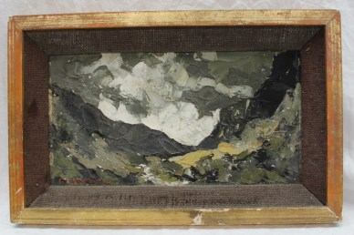 Charles Wyatt Warren Mountainous Landscape Llanberis Oil on board. Sold at Anthemion Auctions for £250