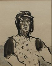 Mike Jones - Cocklewoman, Watercolour. Sold at Anthemion Auctions for £170