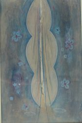 Frances Richards - Ascending Figure, Tempura on board. Sold at Anthemion Auctions for £230