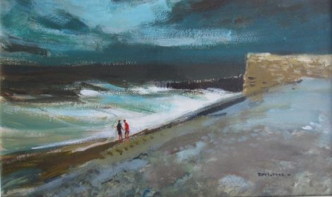 559 Donald McIntyre Breakers Acrylics on paper A209 Sold for £2000 at Anthemion Auctions