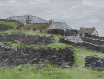 Kyffin Williams - Penrhiwan, Watercolour. Sold at Anthemion Auctions for £1,800