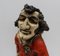 A John Hughes pottery Grogg of Gareth Owen Edwards Y Mewn WR, 56cm high. Sold for £1,150 at Anthemion Auctions