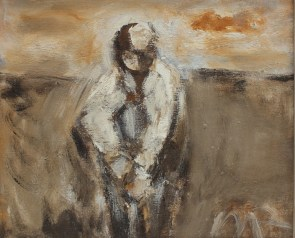 Will Roberts - Man digging, Oil on canvas. Sold at Anthemion Auctions for £1,250