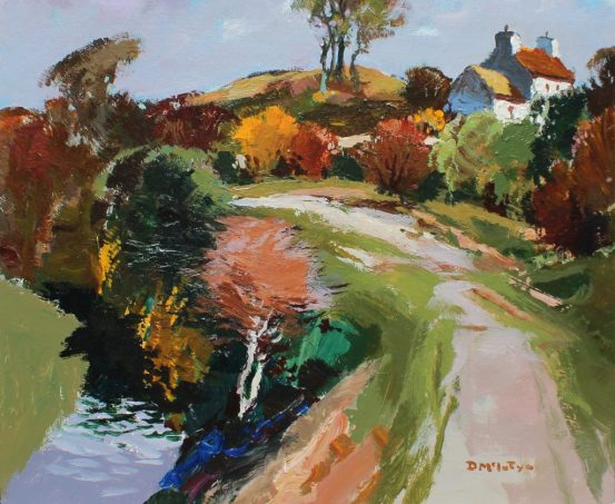 Donald McIntyre Lane Anglesey, Oil on board, Signed and label verso sold for £4,500.00 by Anthemion Auctions