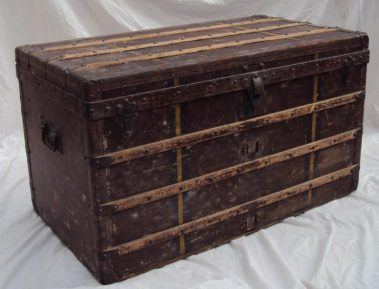 A Louis Vitton steamer trunk. Sold for £5,100 at Anthemion Auctions
