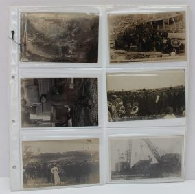 A collection of postcards relating to the Newport Dock disaster on July 2nd 1909. Sold for £780 at Anthemion Auctions