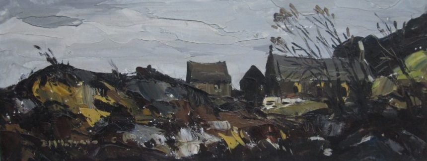 Donald McIntyre - Church in Lleyn, Oil on canvas. Sold for £3,000 at Anthemion Auctions