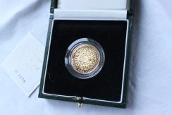 Lot 89 - Sold for £410 - An Elizabeth II 1997 Gold Proof £2 coin, cased and with certificate