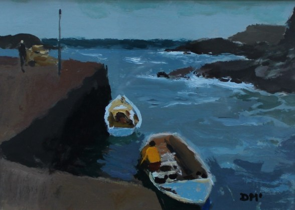 Donald McIntyre - Bailing, Oil on paper. Sold for £980 at Anthemion Auctions