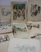 arold William Hailstone, a collection of original cartoon sketches, including, cyclists, Coronation sketches, interior scenes etc, with annotations for publication. Sold for £320 at Anthemion Auctions
