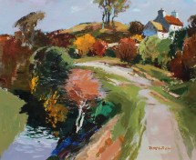 Donald McIntyre - Lane Anglesey, Oil on board. Signed and label verso Martin Tinney Gallery label verso also 50 x 60cm. Sold for £4,500 at Anthemion Auctions