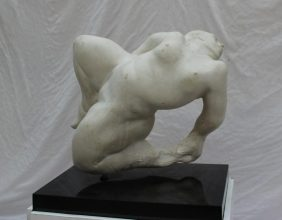 Peter William Nicholas, F.R.B.S. A.R.C.A. (1934-2015) - Hussanah, Reclining nude. Initialled and dated 2001 40 x 40cm On a plinth base. Sold for £850 at Anthemion Auctions