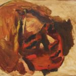 Kevin Sinnott - Untitled (Head Study), Oil on board. Initialled, Bernard Jacobson Gallery labels verso 34 x 25cm. Sold for £620 at Anthemion Auctions