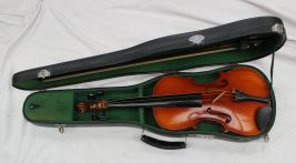 A Chinese copy of an Antonius Stradivarius violin. Sold for £20 at Anthemion Auctions