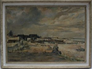 A seaside scene, to be featured in 23rd May Fine sale at Anthemion Auctions