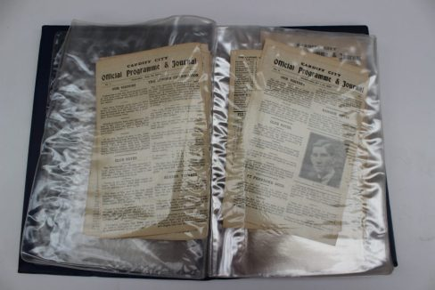 Cardiff City A.F.C. 1926/27, a collection of 33 Cardiff City home match programmes, all lacking their covers, ex-binder. Sold for £340 at Anthemion Auctions