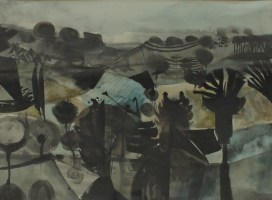 Alan Reynolds - Pastoral, 1952 Watercolour Signed and dated The Redferm Gallery label verso 27 x 36.5cm