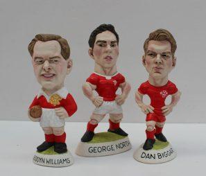 Bleddyn Williams, George North & Dan Biggar