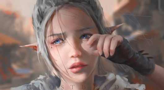 Elves_Heroes_comics_wlop_original_GhostBlade_Glance_Face_Anime_Fantasy_mood_crying_sad_cry_2858x1568